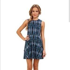 VANS brand blue tie dye skater dress medium